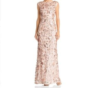 Adrianna Papell Sequined Sleeveless Evening Dress